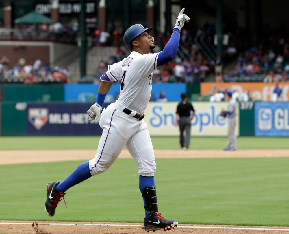 Things are pointing up for Carlos Gomez
