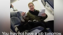 Woman filmed shouting at mother and son on Delta Airlines flight has lost her job