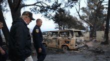 Trump surveys wildfire damage in California