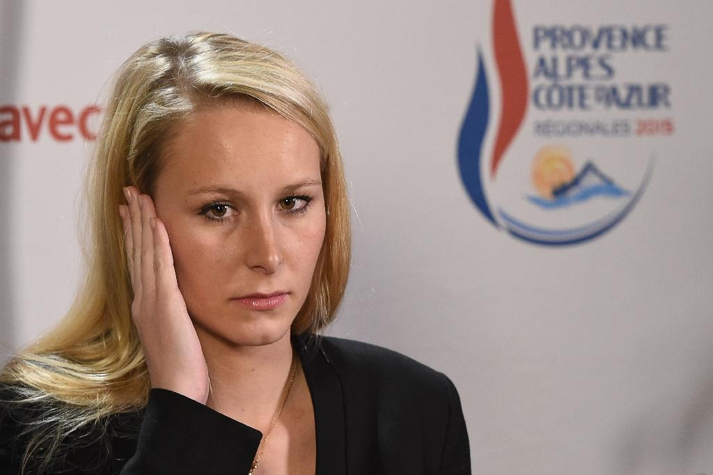 Vice-President of the Front National party and candidate for regional elections in the Provence-Alpes-Cote d'Azur region, Marion Marechal Le Pen, on December 6, 2015 in Le Pontet (AFP Photo/Boris Horvat)