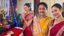 Ankita Lokhande celebrates Ganpati festival with her mother after Sushant