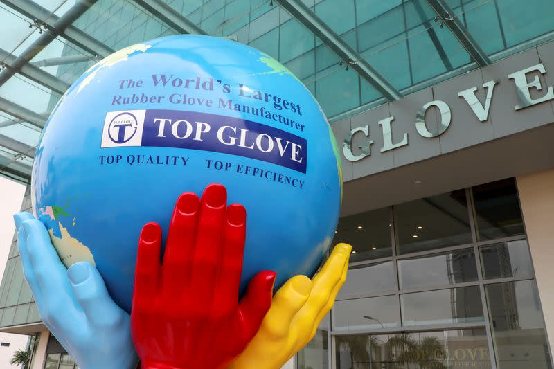 A general view of Top Glove headquarters is pictured in Shah Alam
