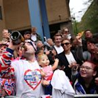 The Wildest Scenes From Outside the Hospital Where Kate Middleton Gave Birth