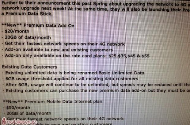 Tip has Mobilicity's 21Mbps HSPA+ network going live next week with throttling after 6GB