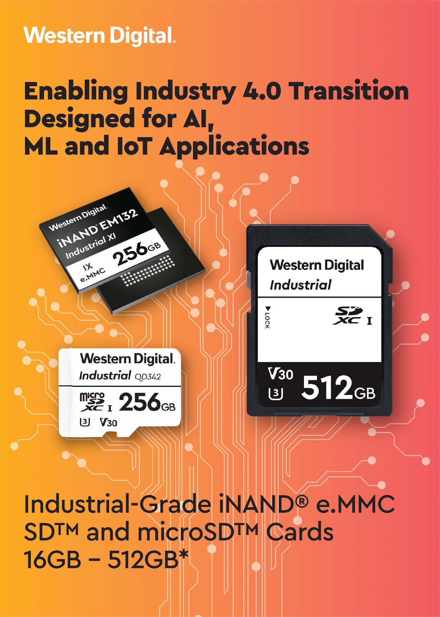 Western Digital Enables Industry 4.0 Transition With High-Endurance Storage Solutions for Industrial-Grade AI, ML and IoT Applications