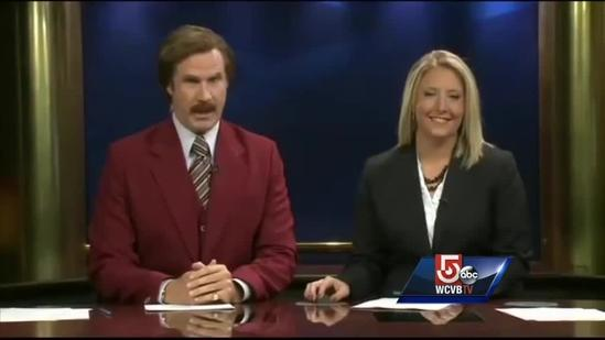 Ron Burgundy takes over the news in North Dakota