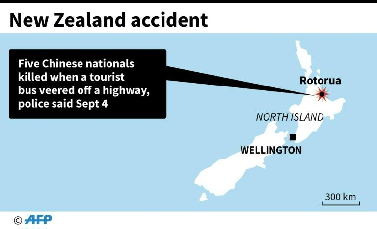 Chinese tourists dead in traffic accident in New Zealand
