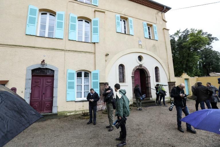 In January last year, reporters staken out a monastery at Roquebrune-sur-Argens in the southern Var region after witnesses said they had spotted a man believed to be Xavier Dupont de Ligonnes, a businessman suspected of shooting dead his family (AFP Photo/Valery HACHE)