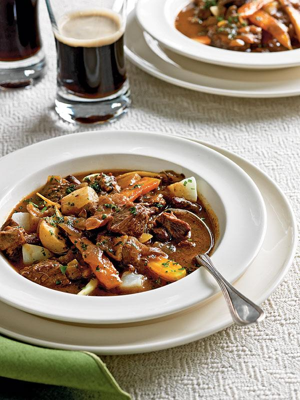 St Patricks Day Lite Hearty Guinness Beef Stew And Irish