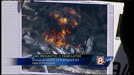 Group pushes for diminished crude oil rail transport on Lac Megantic anniversary