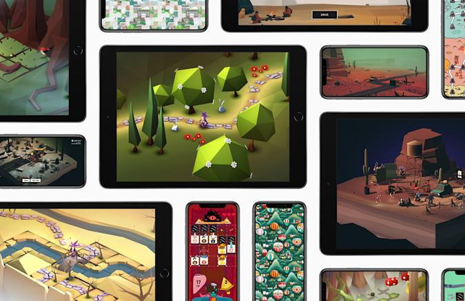 Apple Arcade games on iPhones and iPads