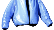 Kanye West just did his first product drop with Gap — it's a $200 bright blue puffer coat