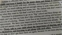 'Insane' preschool newsletter accused of 'shaming' parents