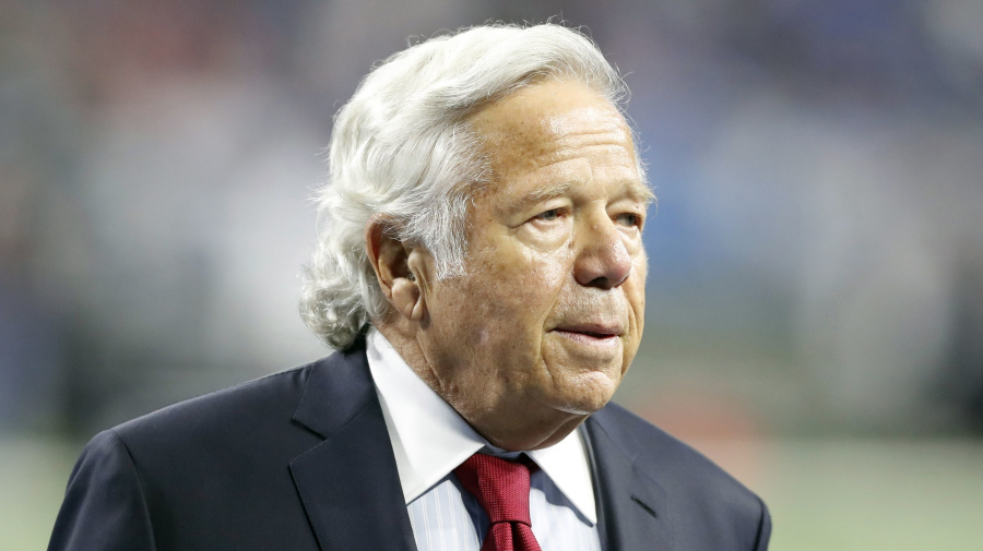 Kraft breaks silence after prostitution charges