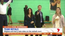Harry and Meghan show off their sporting side
