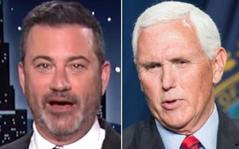 Jimmy Kimmel Rips Mike Pence For 'Most Obliviously Hilarious Statement' Of 2021 So Far
