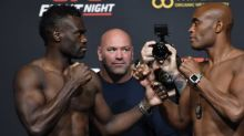 UFC Vegas 12: Uriah Hall vs. Anderson Silva weigh-in staredowns (full card)
