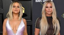 'Khloé, is that you?': Fans mistake singer Maren Morris for Khloé Kardashian on the Grammy red carpet