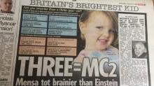 Ophelia tiene tres años y un coeficiente intelectual superior al de Einstein y Hawking