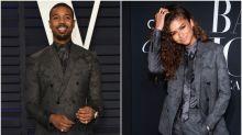 Michael B. Jordan Has Charming Reaction To Zendaya Rocking The Same Suit