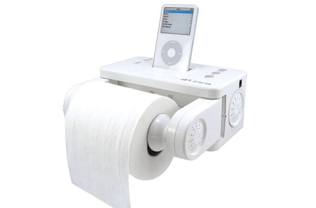 An iPod dock for musical poops