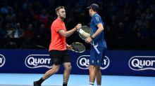 Sock shines in doubles at ATP Finals after rankings plunge