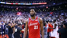 Joel Embiid leaves court in tears after Sixers stunned in Game 7
