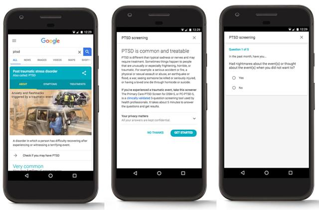Google search quiz can help diagnose PTSD