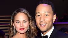 John Legend Makes a Shirtless Cameo During Chrissy Teigen's Instagram Modeling Session