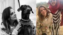 La peculiar cuarentena de Macarena Gómez y Aldo Comas entre perros, alpacas y emúes