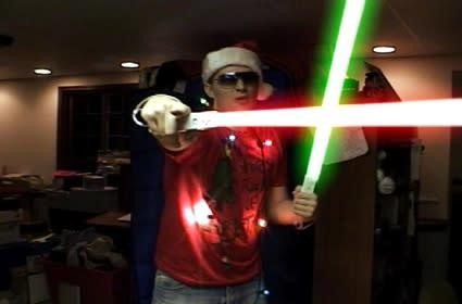 Wiimote lightsabers (oh, and a music video)