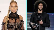 Beyoncé Makes a Surprise Appearance to Present Colin Kaepernick With Muhammad Ali Legacy Award