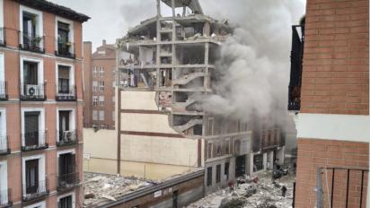 Al menos tres fallecidos en una explosión en un edificio situado en el centro de Madrid