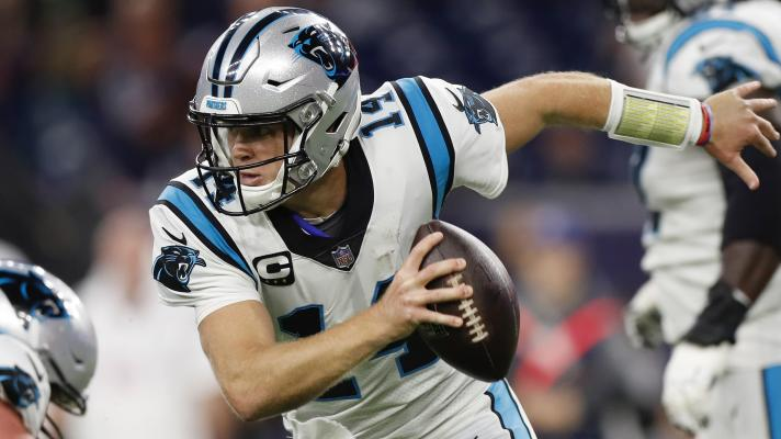 Sam Darnold's two rushing touchdowns in Panthers' 24-9 win over the Texans