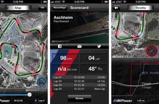 BMW M Laptimer goes live in iOS App Store, tracks your run to the grocery store