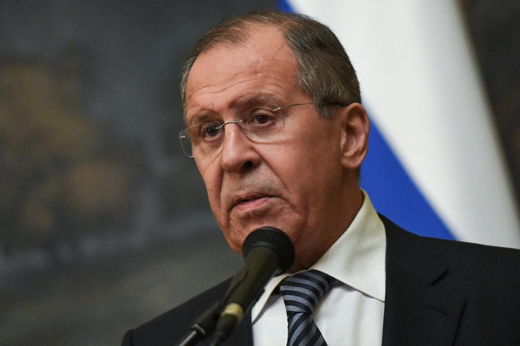 Russian Foreign Minister Sergei Lavrov said Moscow will expel 60 US diplomats and close its consulate in Saint Petersburg (AFP Photo/Yuri KADOBNOV)