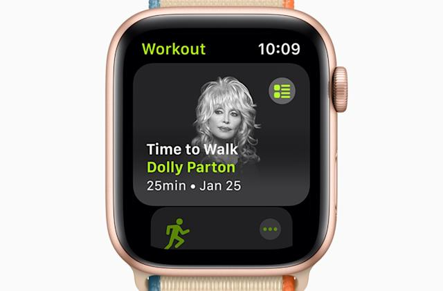 The Morning After: Apple's new fitness feature is a guided walk with Dolly Parton