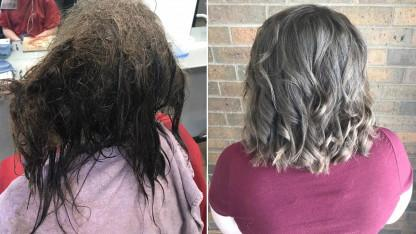 Beauty School Student Transforms Depressed Teen's Hair That She Hadn't Combed For Months