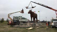 Quebec town's moose statue won't seek to supplant Moose Jaw, Sask.'s famed Mac