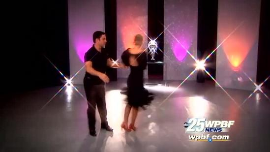 Chris shows off his new Tango skills