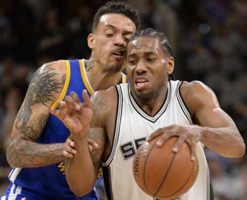 We knew the Spurs and Warriors were close, but not this close. (AP)