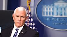 Pence gives hopeful outlook on pandemic, but takes no questions
