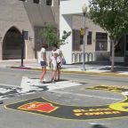 Artist Plans Round-the-Clock Protection of Palo Alto BLM Street Mural