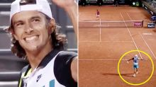 Teenager stuns tennis world with never-before-seen moment