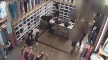 Surveillance shows group of thieves loot Lululemon