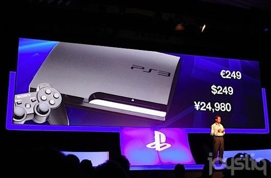 Sony drops PS3 price to $250 in US, €250 in Europe