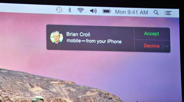 OS X Yosemite will let you answer calls to your iPhone from your Mac