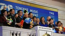 China's Tencent Music jumps 11 percent in U.S. debut