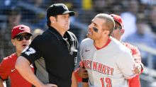 Reds' Joey Votto, manager David Bell ejected in wild first inning vs. Padres