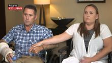 Couple recounts drama of hot air balloon crash